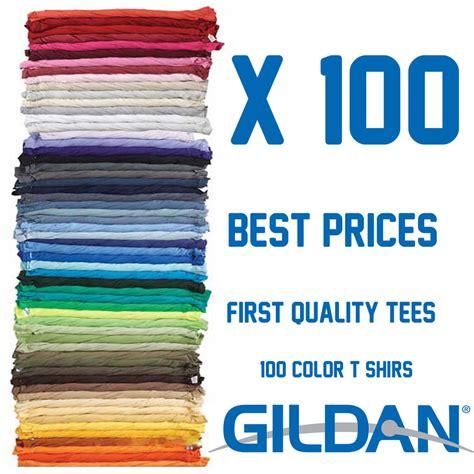 plain l shades in bulk 100 t shirts gildan bundle blank colors plain men 39 s tee s