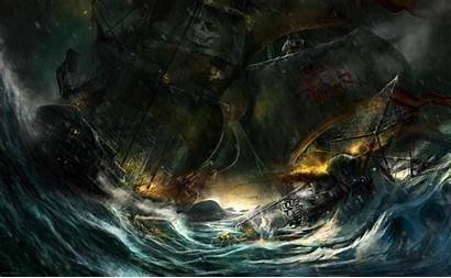 Pirate Fantasy Ship Background Wallpapers Ships Sea