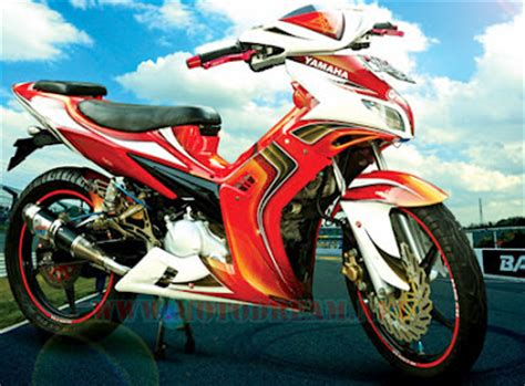 Modif Jupiter Mx Warna Merah by Jupiter Mx Modif Warna Merah Putih Oto Trendz