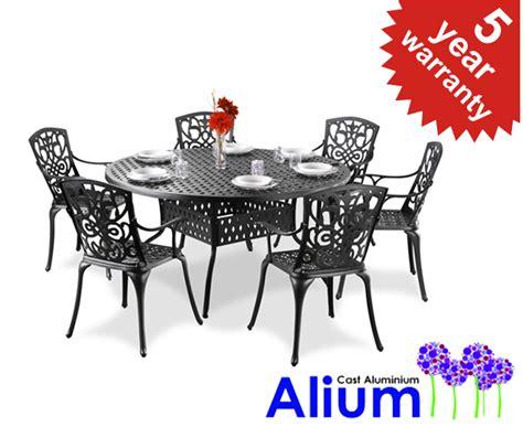 alium quot cleveland quot cast aluminium 6 seater garden