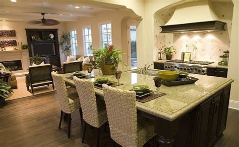 Decorating Ideas For Open Living Room And Kitchen - 22 open floor plan kitchen family room open space kitchen and living room home decorating ideas