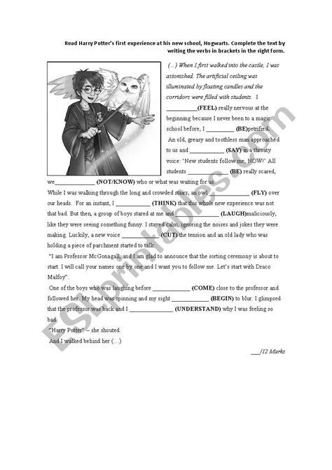 harry potter  simple worksheet esl worksheet