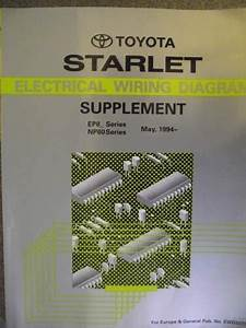 Toyota Starlet Wiring Diagram Supplement 1994 Ewd207f