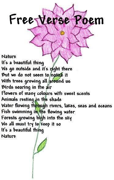 free verse poem google search education pinterest