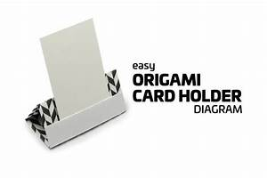 easy origami card stand tutorial origami cards menu With places to make business cards