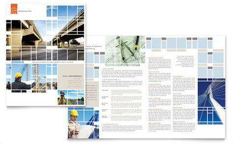 engineering company brochures word psd ai