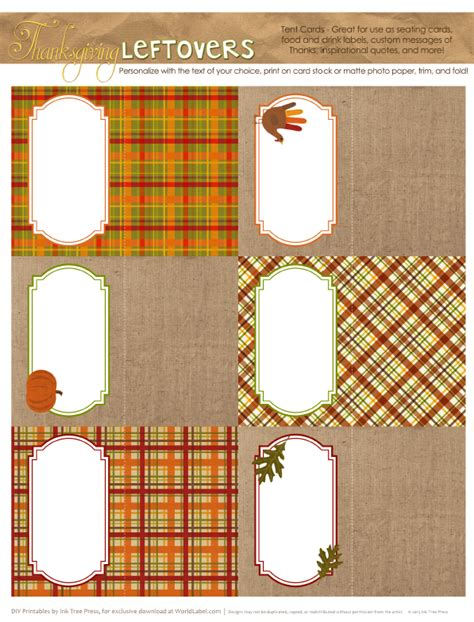 labels  thanksgiving leftovers digital papers