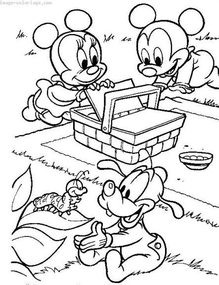 Mini Beasts Free Colouring Pages