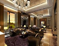 Luxurious Interior Design Luxury America Villa Living Room Interior Design Rendering