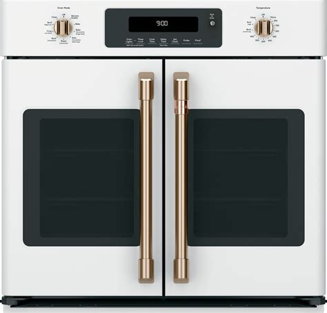 ctsfpmw cafe   french door single wall oven matte white