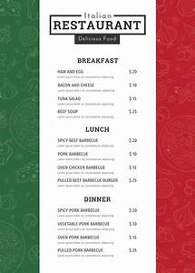 34+ Restaurant Menu Templates - Free Sample, Example ...