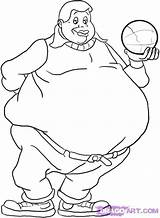 Fat Coloring Pages Printable Albert Getcolorings Boy Lazy sketch template