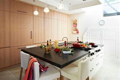 cuisine ouverte ilot central cuisine ouverte avec ilot table maison design bahbe com