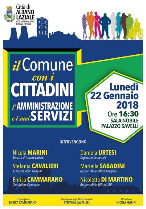Comune Di Grottaferrata Ufficio Anagrafe by Ad Albano L Incontro Pubblico Il Comune Con I Cittadini