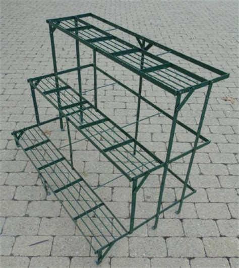 green metal garden patio tiered plant stand