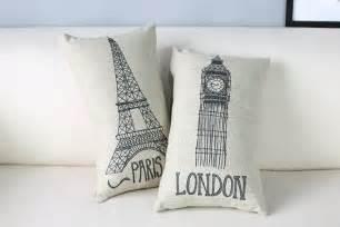 sofa big ben free shipping novelty gift sketch big ben eiffel tower pattern rectangle cushion