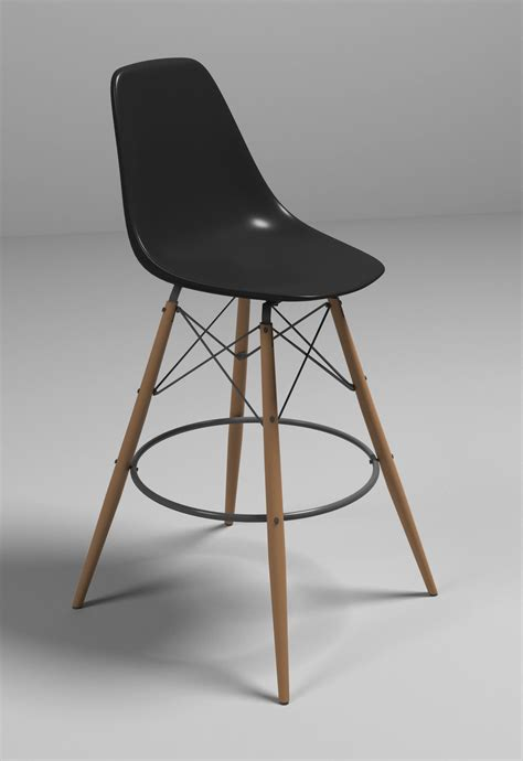 eames bar chair 3d model max obj 3ds fbx cgtrader