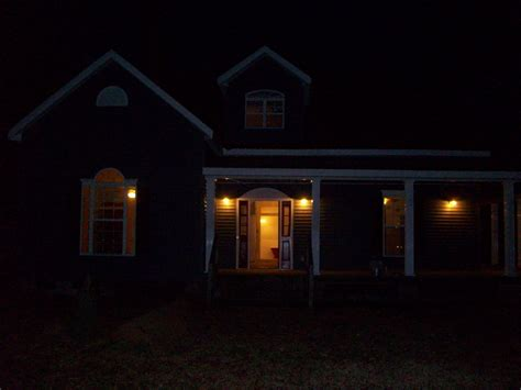 house porch at night image gallery house at night time