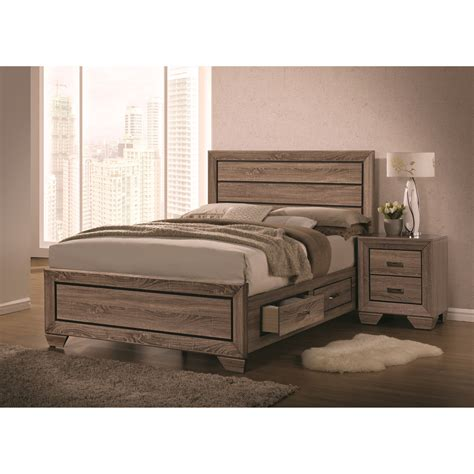 27010 coaster furniture beds coaster kauffman 204190q bed with panel design and