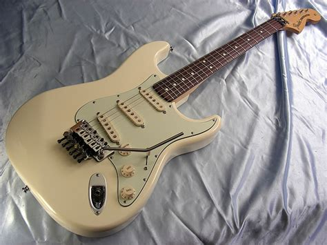 fender deluxe floyd stratocaster upgrades white classic 70s strat w ebay