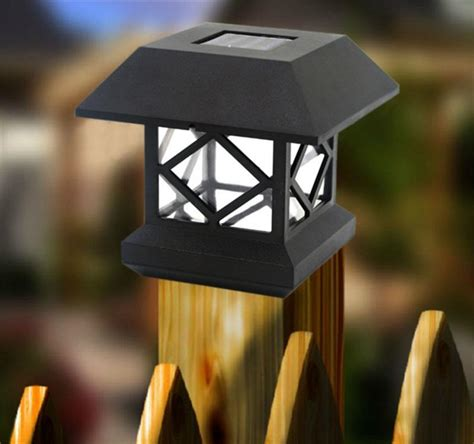 solar stakes lights solar lamp headlamp wooden fence