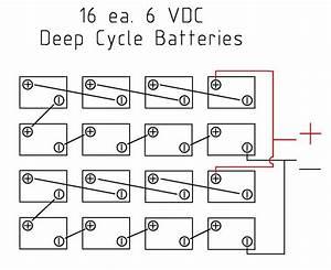 Solar Batter Wiring Diagram For 16 6v Batteries