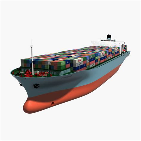 Ship Animation by 3d Container Ship Animation Model