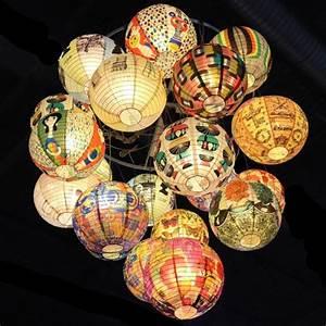 Suspension Boule Japonaise : lanternes japonaises oniriques en papier recycl paris c t jardin ~ Teatrodelosmanantiales.com Idées de Décoration