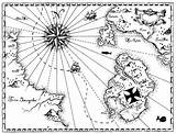 Treasure Map Coloring Pirate Maps Play Getdrawings Within Hunters Related sketch template