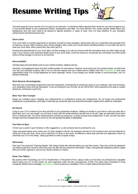 cover leter and resume writing tips resume and cover letter writing tips to