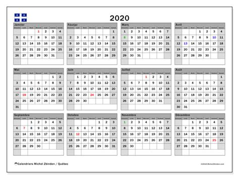 calendrier quebec canada michel zbinden fr