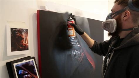 star wars  force awakens kylo ren graffiti painting