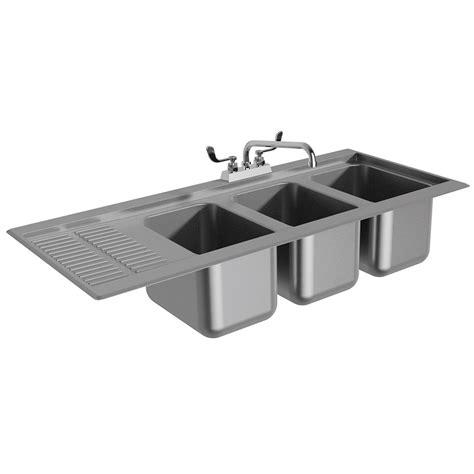 48 3 compartment sink advance tabco dbs 43l 48 quot 3 compartment sink w 10 quot l x 14