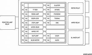 2013 Chevy Spark Engine Compartment Diagram