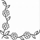 Border Borders Flower Coloring Colouring Floral Printable Result Embroidery Flowers Getcolorings Sheets Drawing Journal Clip Poster Getdrawings Adult Doodles sketch template