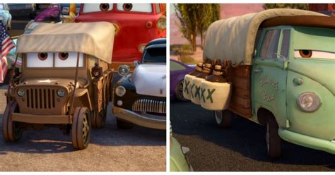 cars sarge and fillmore dan the pixar fan radiator springs 500 1 2 stanley days