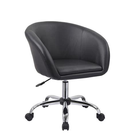 chaise de à roulettes fauteuil à tabouret chaise de bureau noir bur09020