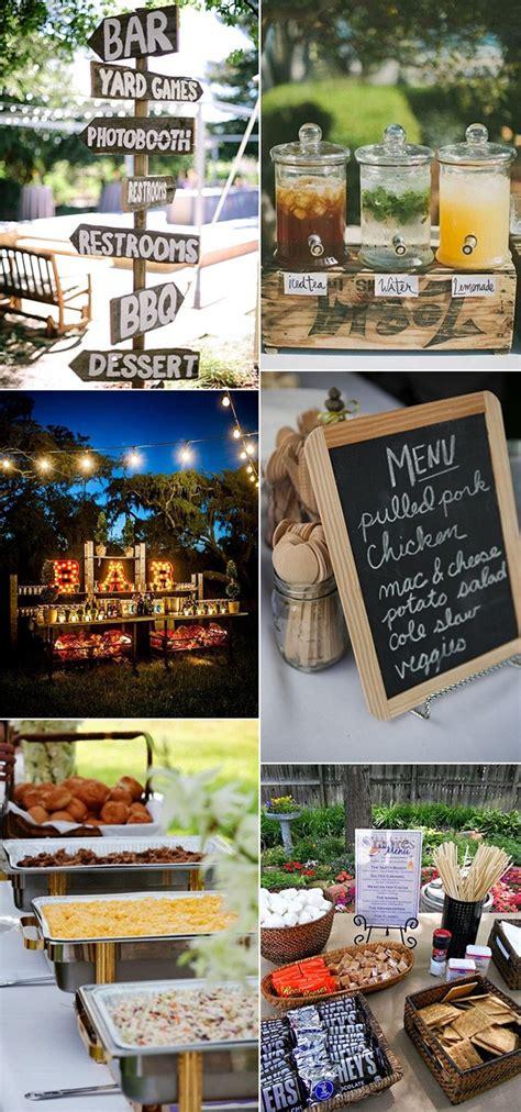 top  bbq reception ideas  backyard weddings