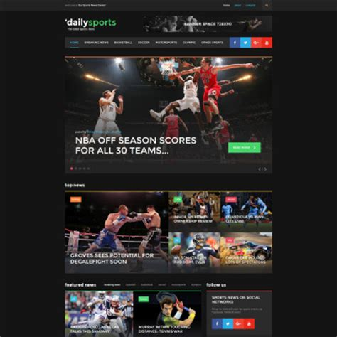 Dailysports Template Monster by Sports News Website Templates