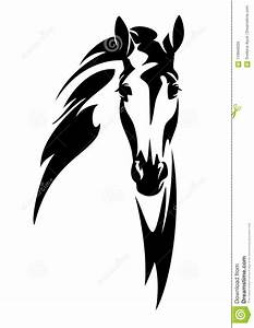 Horse Head En Face Vector Design Stock Vector ...