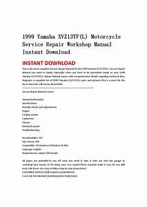 1999 Yamaha Xvz13tf L  Motorcycle Service Repair Workshop