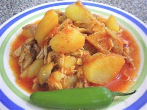 cuisine facil pollito con papas en salsa receta facil y deliciosa