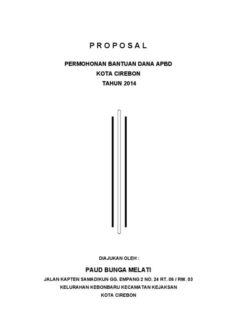 contoh proposan permohonan bantuan dana apbd