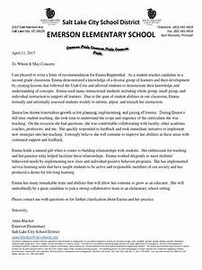 letter of recommendation for elementary student ruppenthal recommendation letter