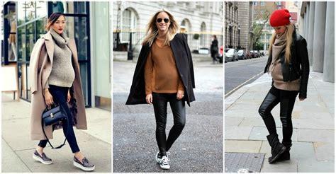 Outfits de invierno para embarazadas que aman la moda