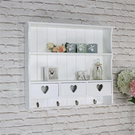White Wall Shelf Unit by Ornate White Wall Shelving Unit Vintage 2 Shelf