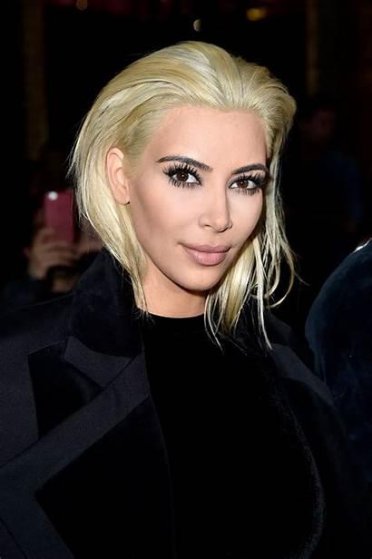Kim Kardashian Blonde Hair Platinum Balmain Paris