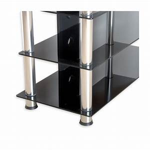 Tv Regal Glas : stilista tv rack schrank st nder m bel regal hifi audio glas schwarzglas ebay ~ Eleganceandgraceweddings.com Haus und Dekorationen