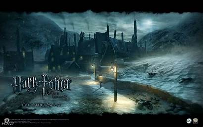 Potter Harry Hogsmeade Hallows Deathly Wallpapers Evil