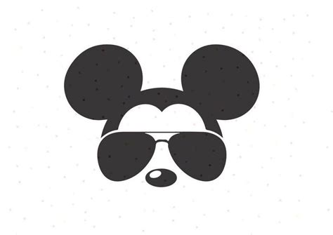 Svg vector image perfect for shirts, mugs, prints, diy, decals, clipart, sticker & more. Mickey Mouse Sunglasses SVG, PNG, Instant Download, Cricut ...